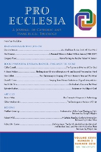 Cover Pro Ecclesia Vol 27-N3