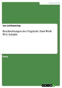 Cover Beschreibungen des Unglücks. Zum Werk W.G. Sebalds