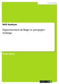 Cover Expressiveness in blogs vs. pen-paper writings