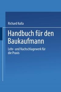 Cover Handbuch fur den Baukaufmann