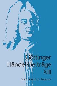 Cover Göttinger Händel-Beiträge, Band 13