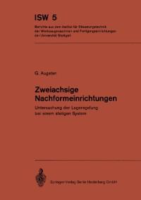 Cover Zweiachsige Nachformeinrichtungen