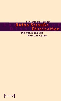 Cover Botho Strauß: Dissipation