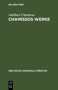 Cover Chamissos Werke