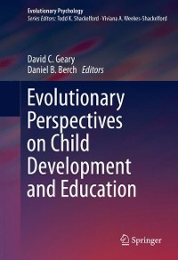 Cover Evolutionary Perspectives on Child Development and Education
