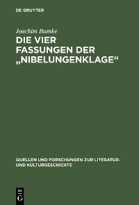 """Cover Die vier Fassungen der """"Nibelungenklage"""""""