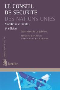 Cover Le Conseil de sécurité des Nations Unies