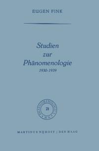 Cover Studien zur Phanomenologie 1930-1939
