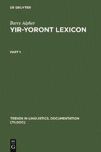 Cover Yir-Yoront Lexicon