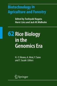 Cover Rice Biology in the Genomics Era