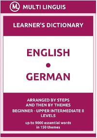 Cover English-German (the Step-Theme-Arranged Learner's Dictionary, Steps 1 - 6)