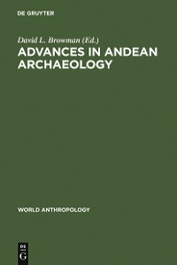 Cover Advances in Andean Archaeology