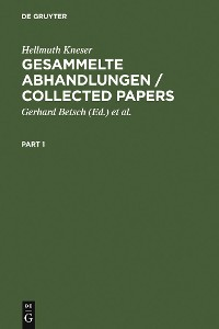 Cover Gesammelte Abhandlungen / Collected Papers