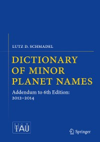 Cover Dictionary of Minor Planet Names
