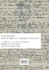 Cover Scritti inediti di economia (1924-1927)