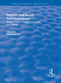Cover Religion and Social Transformations