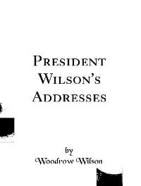 Cover President Wilson's Addresses