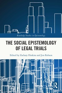 Cover Social Epistemology of Legal Trials