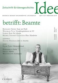 Cover Zeitschrift für Ideengeschichte Heft XI/1 Frühjahr 2017