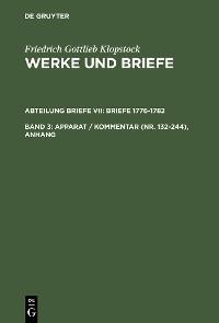 Cover Apparat / Kommentar (Nr. 132-244), Anhang