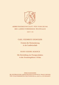 Cover Grenzen der Mechanisierung in der Landwirtschaft. Die Entwicklung der Futterproduktion in den Savannengebieten Afrikas