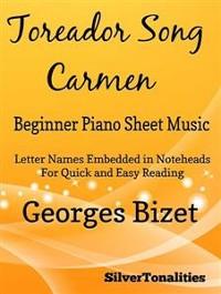 Cover Toreador Song Beginner Piano Sheet Music