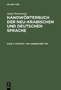 Cover Deutsch - neu-arabischer Teil