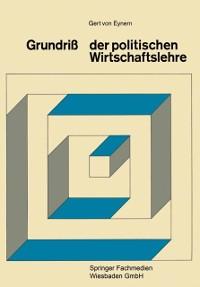 Cover Grundri der Politischen Wirtschaftslehre