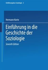 Cover Einfuhrung in die Geschichte der Soziologie