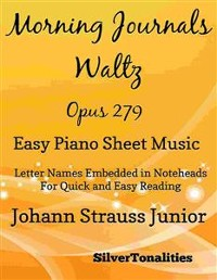 Cover Morning Journals Opus 279 Easy Piano Sheet Music