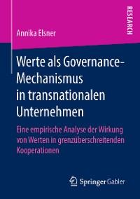 Cover Werte als Governance-Mechanismus in transnationalen Unternehmen