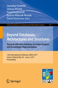 Cover Beyond Databases, Architectures and Structures. Towards Efficient Solutions for Data Analysis and Knowledge Representation