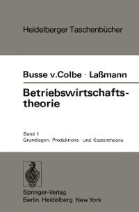 Cover Betriebswirtschaftstheorie