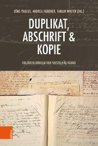 Cover Duplikat, Abschrift & Kopie