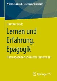 Cover Lernen und Erfahrung. Epagogik