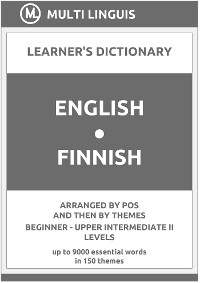 Cover English-Finnish (the PoS-Theme-Arranged Learner's Dictionary, Steps 1 - 6)