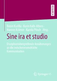 Cover Sine ira et studio