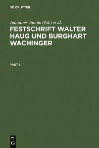 Cover Festschrift Walter Haug und Burghart Wachinger