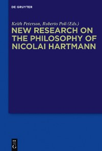 Cover New Research on the Philosophy of Nicolai Hartmann