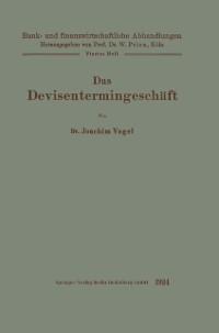 Cover Das Devisentermingeschaft