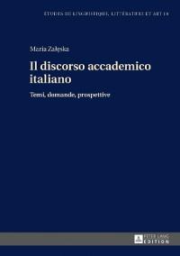 Cover Il discorso accademico italiano