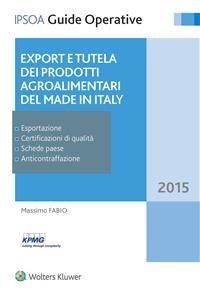Cover Export e tutela dei prodotti agroalimentari del Made in Italy