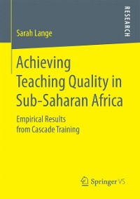 Cover Achieving Teaching Quality in Sub-Saharan Africa