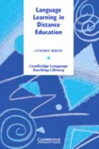 Cover Language Learning in Distance Education