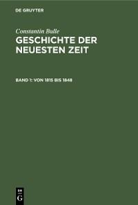 Cover Von 1815 bis 1848