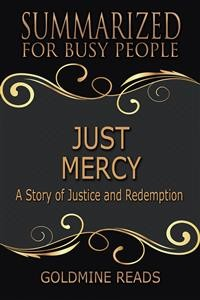 Cover Just Mercy - Summarized for Busy People