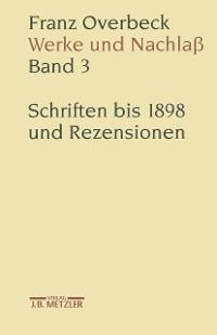 Cover Franz Overbeck: Werke und Nachlaß