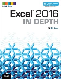 Cover Excel 2016 In Depth (includes Content Update Program)