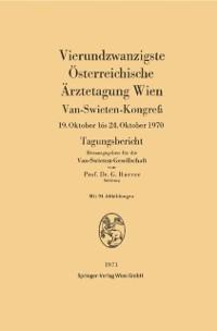 Cover Vierundzwanzigste Osterreichische Arztetagung Wien