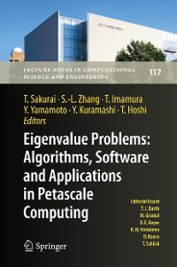Cover Eigenvalue Problems: Algorithms, Software and Applications in Petascale Computing